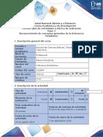Guía de actividades y rúbrica de evaluación – Paso 1 – Reconocimiento de conceptos generales de la Inferencia Estadística