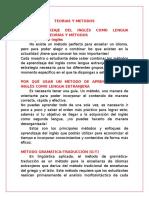 METODOS DE APRENDIZAJE DEL INGLÉS COMO LENGUA EXTRANJERA   #1