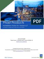 Phast Installation Notes