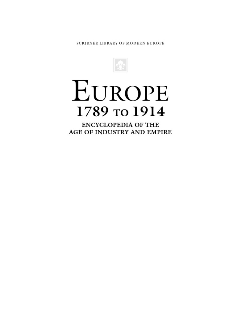 Europe 1789 To 1914 The Age Of Industry And Empire Vol 4 Pdf E Books Unrest