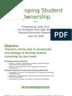 developing student onwership final version
