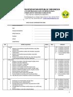 formulir penilaian ujian Klinik Anak