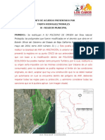 ANALISIS DEL PROYECTO ESTERO - PUNTO DE ACUERDO