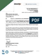 Certificación Migración Colombia