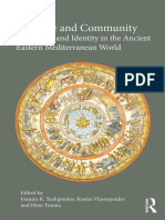 Violence and Community - Law, Space and Identity in the Ancient Eastern Mediterranean World