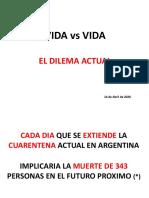 Coronavirus en Argentina y el mundo, informe VIDA VS VIDA.