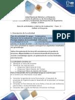 Guía de actividades y rúbrica de evaluación – Fase  2 – Definir el Proyecto