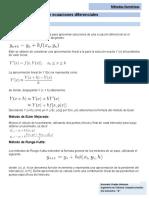 Resumen Solución de ecuaciones diferenciales