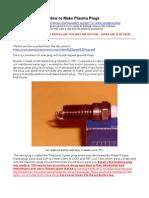 How to Make Plasma Plugs