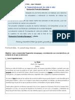 Evaluacion formativa lenguaje 8 año Epopeyas