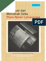 Membuat Dan Mencetak Coba Plate Relief Letterpress