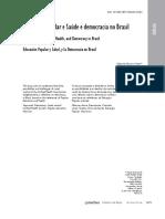 Educação Popular e Saúde e democracia no Brasil