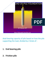 Capacity Load of Pile Foundation