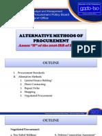 Dir. Sunga-Alternative Methods of Procurement