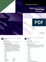 Select Readings Elementary Answer Key 2012