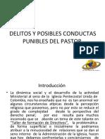 Delitos Y Posibles conductas Punibles Del Pastor III.ppt