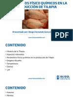Parámetros físico químicos en la producción de tilapia