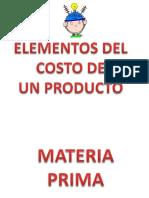 Costos _ Elementos de Un Producto