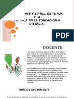 EL DCENTE Y SU ROL DE TUTOR