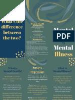 mental health vs mental illness brochure