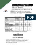 Curriculum Javier Burgos