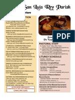 Mission San Luis Rey Parish Bulletin for 01-02-2011