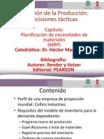 LECTURA PLANIFICACIÓN DE NECESIDADES DE MATERIALES (MRP)