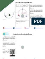 Movimiento Circular Uniforme - Ejercicios Propuestos PDF
