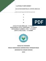 laporan mini riset bisnis pariwisata