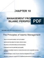 CHAPTER 10-MANAGEMENT FROM THE ISLAMIC PERSPECTIVE (1)