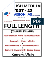 25. Vision IAS Prelims 2020 Test 25 English WITH Solution