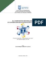 EL COMPONENTE METODOLÓGICO  EN LOS PROCESOS DE INVESTIGACIÓN CIENTÍFICA