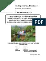 PLAN NEGOCIO - LAMBRAMA-MIEL