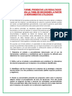 3.6 EVIDENCIA INFORME. PRESENTAR LOS RESULTADOS OBTENIDOS PARA LA TOMA DE DECISIONES, A PARTIR DE LAS HERRAMIENTAS UTILIZADAS
