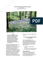 Introduction to Environmental Psychology