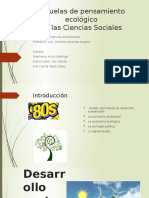 Escuelas de pensamiento ecológico