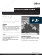 Non Residents claiming GST in New Zealand