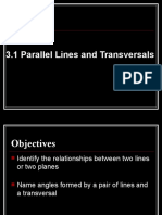 3.1 Parallel Lines and Transversals