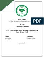 Crop water manegment