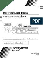JVC Car Stereo System KD-R326
