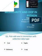 Modularity and Oop in Python