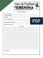 TORNEO DE FOOTBALL FEMENINO