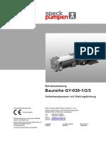 Manual de instruções GY Series