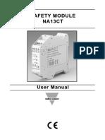 Manual de utilizador - Relé 24 VDC - NA13CT