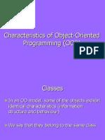 Basic characteristics of OOP