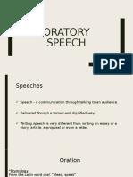 Oratory Speech