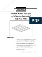 Normal Modes Analysis of a Simply-Supported Stiffened Plate