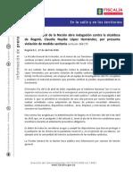 Boletín Investigación Fiscalía contra Claudia López
