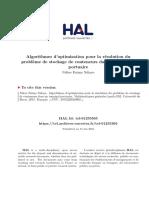Algorithmes d'optimisation pour la résolution du problème de stockage de containers dans un terminal portuaire