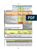 Ravi Chandran- Cost Sheet